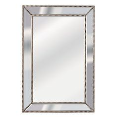 Reside Beaded Maison Mirror on Mirror 51 x 76cm - Mirrors - Home Decor - Homewares - The Warehouse