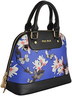 952b96aa00 Gouri Bags Black Blue Colour Casual Digital Flower Printed Stylish Trendy  Bag for Girls Women Handbags Satchels Bag Shoulder Soft Leather Bag Ladies  Purse ...