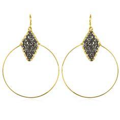 Charm & Chain | Hematite Wire Circle Earrings - Earrings - Jewelry