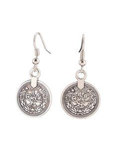 Coin Shaped Fashion Alloy Earrings - AdoreWe.com