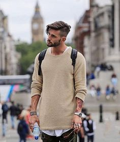 Men Sweater Autumn Winter Knitted Solid Simply Style Pullovers Casual Loose Cotton O Neck Sweater Jumpers Male Black Outerwear Pullover Sweaters, Men Sweater, Wool Sweaters, Mens Pullover, Winter Sweaters, Sweater Weather, Haircuts For Men, Men's Haircuts, Mens Hairstyles Fade