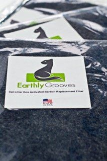 Earthly Grooves Universal Cut to Fit Activated Carbon Filter for Cat Litter Boxes Best Odor Control Fresh Smell Sucks and Removes Unwanted Smells Made in USA * Click image to review more details.