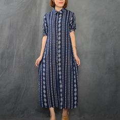 2016 Autumn New Women's Single Breasted Cardigan Cotton Linen Dresses