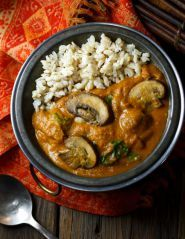 Hot and Hearty Mushroom Curry | #vegan #cleaneating #glutenfree