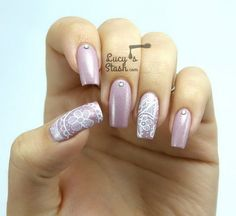 60 Lace Nail Art Designs & Tutorials For You To Get The Fashionable Look - Noted List