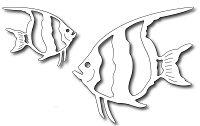 Frantic Stamper Precision Die - Angel Fish (set of 2 dies)