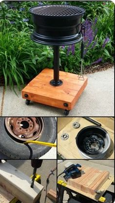 How to build a no-weld tire rim grill – DIY projects for everyone! Welding Projects, Wood Projects, Welding Art, Welding Ideas, Metal Welding, Welding Tools, Welding Crafts, Diy Grill, Diy Simple