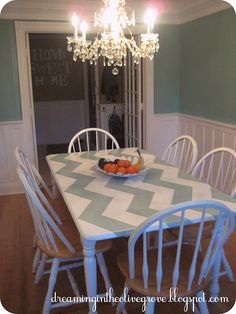 How cute is this painted table guys?! @Hallie M Baugher@Nicole Rizzo @Lauren Davison Eckhoff @Kelsey Myers Cronin