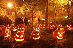 My dad always carved our pumpkin with the 3 pointed nose on the right!! Great memories...