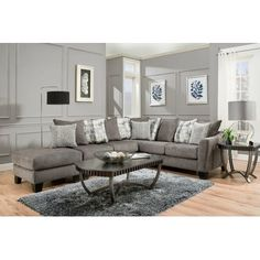 34 best gray sectional images in 2019 grey sectional home fabric rh pinterest com