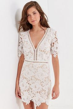 Uo Fl Lace Ladder Mini Dress Urban Outers Womenfashion Groupparty