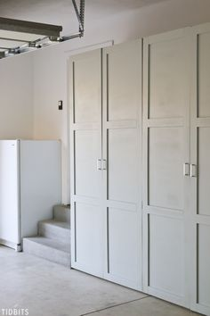 diy storage cabinet Take back control of your garage! Free building plans for garage storage cabinets to organize all your tools, household supplies, automotive supplies, outdoor toys, garden tools . Easy Garage Storage, Garage Storage Solutions, Garage Organization, Locker Storage, Storage Ideas, Organization Ideas, Diy Storage Wall, Diy Garage Storage Cabinets, Diy Locker