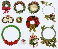Клипарты- рождественские венки