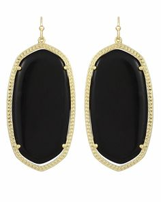Danielle Earrings in Black - Kendra Scott Jewelry (Having a hard time deciding between black, green and yellow!)