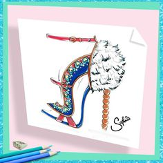 Pin for Later: You Can Shop the Shoes the VS Angels Will Be Wearing on the Runway A Sketch of the Fantasy Bra Catia Shoe