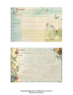 Printable Recipe Cards | FREE Printable Recipe Cards Perfect for Thanksgiving!