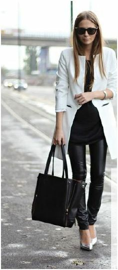 How to rock daywear leather.