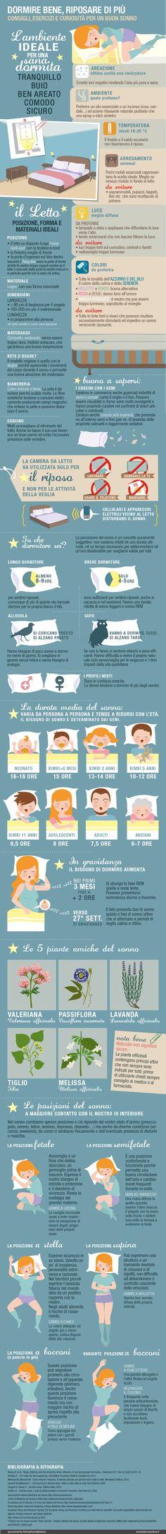 Dormire bene - Tutti i consigli per un buon sonno in una infografica!