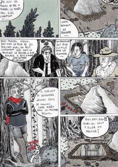 Comme promis voici, après un long rhume et quelques maux de tête, la trente quatrième page de mon webcomics Red Lodge. Dans cette page nos héros suivant les indices trouvé par le shérif ont le droit à un petit tour en forêt qui pourrait bien les mener...