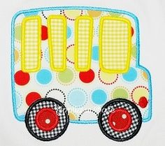 Bus Applique - 3 Sizes! | back-to-school | Machine Embroidery Designs | SWAKembroidery.com Applique Cafe