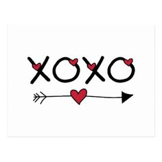 XOXO Valentines Postcard - valentines day gifts love couple diy personalize for her for him girlfriend boyfriend Holiday Postcards, Holiday Cards, Valentine Drawing, Valentines Watercolor, Drawings For Boyfriend, Romantic Gifts For Him, Gifts Love, Love Girlfriend, Saint Valentine