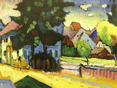 View of Murnau by Kandinsky, 1908