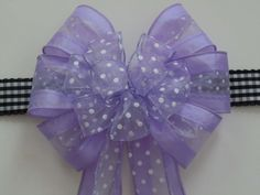 Lavender Purple Bow, Spring Wreath Bow by greentraderllc, $10.00