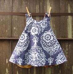 Piper Jane's Reversible Pinafore Woodcut Gold & by bodhihandmade, $28.00