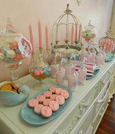 Princess Ariel Little Mermaid Spa Birthday Party Ideas! Way too fancy for Ariel's first birthday but super nice and a great idea for later!