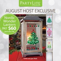 Seasonal. Swappable. Spectacular! Host a party and light up your very own new Nordic Lantern ($180 value) for just $60, exclusively available to PartyLite Hosts. Find more at PartyLite.com