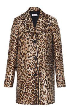 Leopard Printed Coat by Red Valentino | Moda Operandi