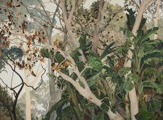 Cressida Campbell (Australian, b. 1960), Banksias, 2004. Woodblock, 90 x 120 cm.