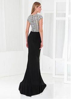 168.59  Charming Tulle   Stretch Charmeuse Jewel Neckline Floor-length  Sheath Prom Dress aab54527586b