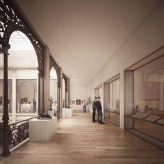 LAN . Bonnat-Helleu City Art Museum . Bayonne (6) Lan Architecture, Architecture Visualization, City Art, Art Museum, Models, Drawings, Design, Life, Interiors