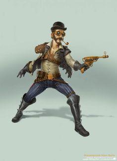 - steampunk han solo by bjorn hurri