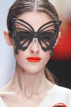 I guess these are sunglasses (under the broadest definition) Very cool look though. Lie Sang Bong SS/2013 Butterfly Sunglasses