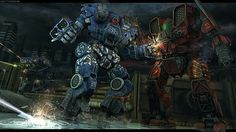Battletech art by Spooky777 Kodiak versus Mauler