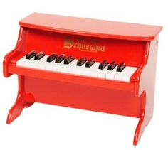 Amazon.com: Schoenhut 25-Key My First Piano II, Red: Toys & Games