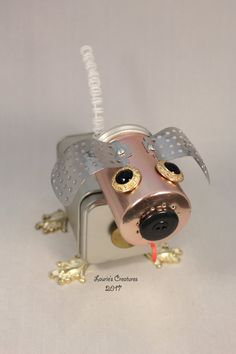 Killer  Found object robot dog by Laurie's by LauriesCreatures
