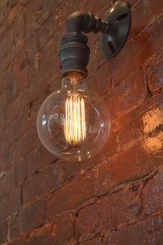 Wall Sconce Industrial Lighting Wall Sconce door WestNinthVintage