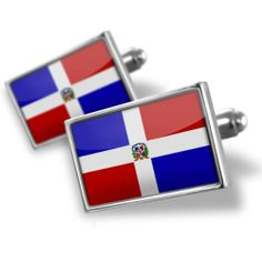 "Neonblond Cufflinks ""Dominican Republic Flag"" - cuff links for man NEONBLOND Cufflinks. $29.90. Comes with our Free Velvet / Satin Bag. Products are Assembled in America. Unique Gift for the Modern Classic Man. Standard Size is approximately 19mm x 12mm. We have more then 4000 different Cufflinks. Save 50% Off!"