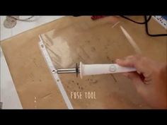 ▶ tuesday tuto! shaker card tutorial request | fuse tool, sequins - YouTube