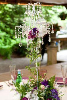 Shabby Chic Candleabras :  wedding reception decor centerpiece flowers candles candelabra shabby chic romantic white reception Shabby Chic Candleabra