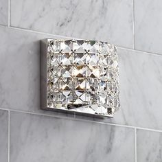 Modern bathroom wall sconces pinterest crystal sconce iron and vienna full spectrum cesenna 5 high crystal wall sconce aloadofball Images