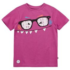 Souris Mini Pink cotton jersey T-shirt with a print Pink - 75025 | Melijoe.com