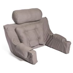 The Hermell Deluxe Lounger Backrest with Cover reduces pressure and helps you sit upright on the floor or in the bed for countless hours. The neck support. Reading Pillow, Reading In Bed, Memory Foam, Bed Pillows, Cushions, Sofa Bed, Diy Hanging Shelves, Bed Rest, Dove Grey