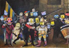 Jim Avignon Nachtwache, 2014, 240 x 306 cm
