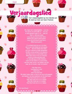 Weer ns wat anders dan 'Lang zal ze leven': Het Verjaardagslied uit Juf Magazine. Melodie: 'Ik neem je mee' van Gers Pardoel Tekst: Jan de Waard