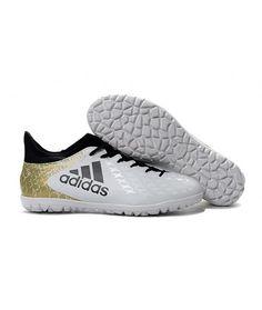 Adidas X 16.3 TF Suola Per Erba Sintetica Scarpe Da Calcio Bianco Oro Nero