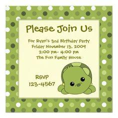 Turtle Cutie Personalized Announcements